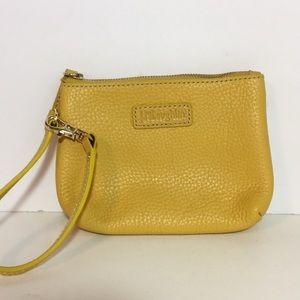 J. McLaughlin Pebble Leather Wristlet